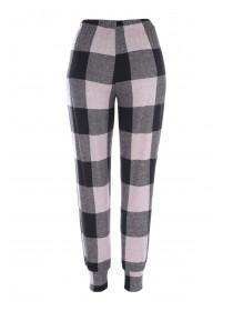 Women Pink Checked Pyjama Bottoms