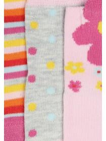 Baby Girls 3pk Pink Flower Socks
