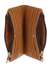 Womens Tan Zip Detail Purse