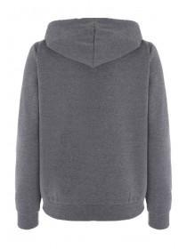 Womens Charcoal Zip Through Hoody