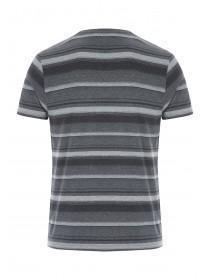 Mens Grey Stripe T-Shirt