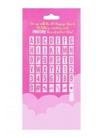 Message Board 85pc Pink Glitter Tiles Pack