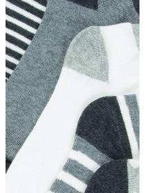 Womens 5pk Monochrome Trainer Socks