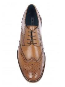 Mens Tan Brogue Lace Up Shoes