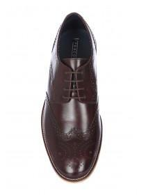 Mens Oxblood Brogue Lace Up Shoes