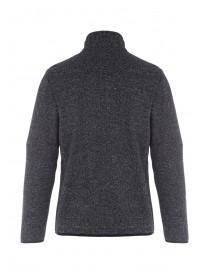 Mens Black Zip Front Sweater Jacket