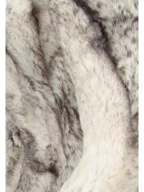 Womens Cream Faux Fur Snood Scarf