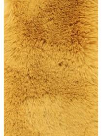 Womens Mustard Faux Fur Stole Scarf