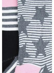 Womens 2pk Grey Thermal Socks