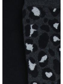 Womens 2pk Black Thermal Socks