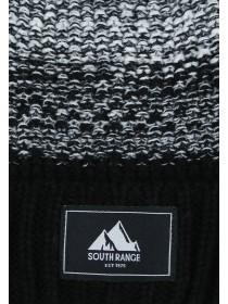 Mens Black Ombre Beanie Hat