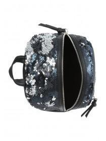 Black Metallic Flip Sequin Rucksack