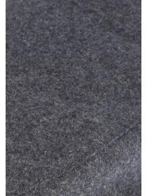 Mens Charcoal Flat Cap