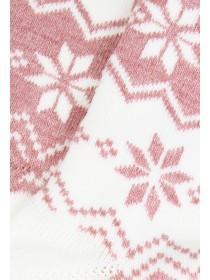 Womens Pink Fairisle Thermal Socks