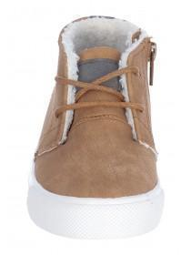 Boys Tan High Top Boots
