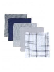 Mens 5pk Blue Handkerchiefs