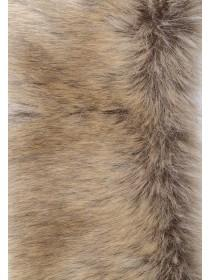 Womens Natural Faux Fur Short Stole Scarf