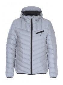 Mens Silver Reflective Padded Coat