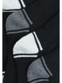 Boys 4pk Black Sports Socks