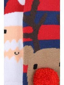 Boys 2pk Reindeer Slipper Socks