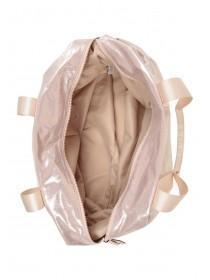 Womens Pink Glitter Luggage Bag