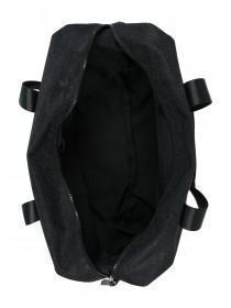 Womens Black Glitter Luggage Bag