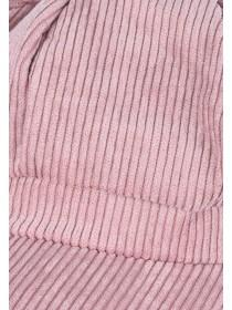 Womens Pink Cord Baker Boy Hat