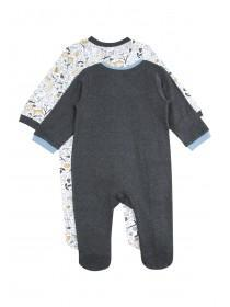 Baby Boys 2pk Grey Fox Sleepsuits