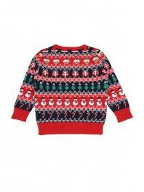 Younger Boys Red Fairisle Christmas Jumper