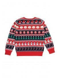 Older Boys Red Fairisle Christmas Jumper