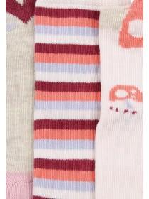 Baby Girls 3pk Pink Woodland Socks
