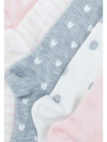 Girls 5pk Pink Socks