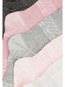 Womens 5pk Grey Socks