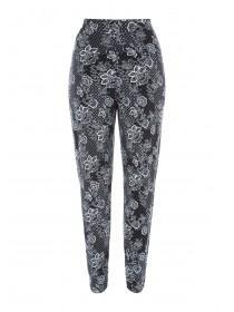 Womens Monochrome Floral Trousers