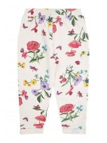 Younger Girls Cream Floral Joggers