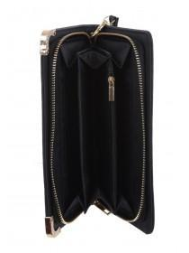 Womens Black Wristlet Purse