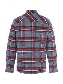 Mens Grey Heavy Checked Shirt