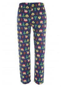 Mens Navy Emoji Pyjama Bottoms
