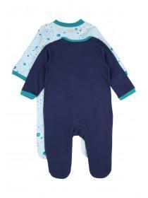 Baby Boys 2pk Blue Dragon Sleepsuits