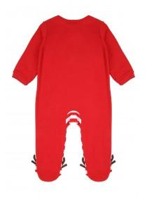 Unisex Baby Red Reindeer Sleepsuit