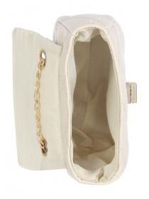 Older Girls Cream Quilted Across Body Bag