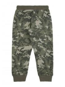 Younger Boys Green Camo Joggers