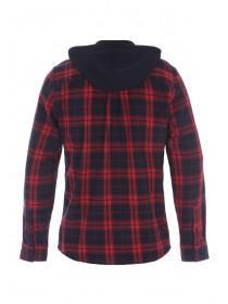 Mens Red Check Layered Jacket