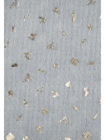 Womens Grey Foil Print Scarf