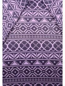 Womens Purple Fairisle Mini Umbrella