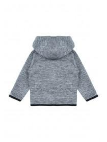 Younger Boys Grey Panel Hoody