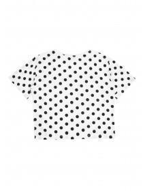 Older Girls Monochrome Spot Slogan T-Shirt