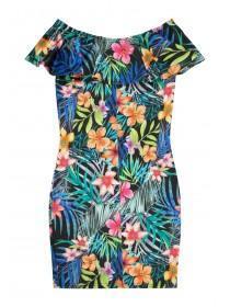 Older Girls Tropical Bardot Dress