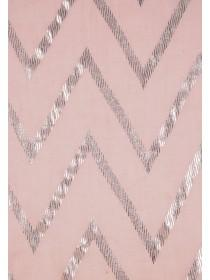 Womens Pale Pink Zig Zag Foil Scarf