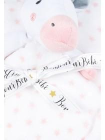 Baby Girls White Unicorn Comforter Set